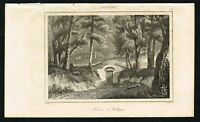 1837 Washington's Tomb, Mount Vernon USA, Antique Print - Rochelle