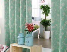 Blockout curtain - DREAM SOLID FLORAL PRINT (GREEN) 140(W) x 233(L)cm