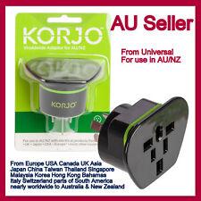 Korjo Worldwide Multi Reverse Adaptor EU/UK/US/Canada/Japan/Asia to Australia&NZ