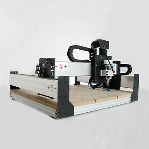 300W CNC DIY Router Kit USB Wood Engraving Carving PCB 3 Axis Mini Machine