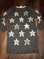 Baby Gap Size 4 Years Sweater Dress Stars New