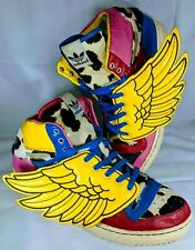 Adidas X Jeremy Scott JS Wings Collage Cow Fur Sneakers HI-TOP SHOES MENS 13.5
