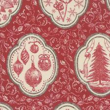 Moda French General Joyeux Noel Christmas Atelier du Pere Fabric Rouge 13710-11