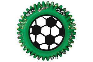 SOCCER BAKING CUPCAKE/MUFFIN BAKING CASES - FOOTBALL - PACK OF 50