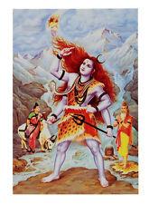 CARTE POSTALE LORD SHIVA PARVATI BHAGIRATHA HINDU 4522