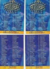 """Carte Crazy authentics (NZ) """"rugby superstars"""" délivré 1996 ensemble complet de 90 cartes"""