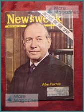 NEWSWEEK Magazine May 19 1969 5/19/69 SUPREME COURT JUSTICE ABE FORTAS +++
