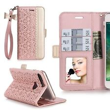 New vintage iPhone 7 Plus Case Leather clutch women purses Wallet Credit Card
