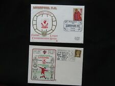 2x LIVERPOOL FOOTBALL,CLUB FIRST DAY COVER1970,s