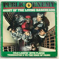 Public Enemy Night Of The Living Bassheads Vinyl Record Original 1988 Hip Hop