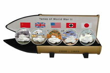 Liberia - 5$ 2008 - Tanks of World War II - 5 Coins x 28 g - Silver .999