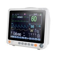 Portable 6-parameter Patient Monitor NIBP SPO2 ECG TEMP RESP PR Vital Signs FDA