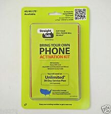 Straight Talk BYOP Universal Activation Kit for GSM 4G LTE & CDMA 4G LTE Phones