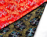 "BY 1/2 YD X 46""CHINA SILK DAMASK JACQUARD BROCADE FABRIC: RAINBOW COLOR DRAGON ="