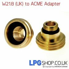 UK Bayonet (W21.8) to ACME Autogas Filling Point Adapter