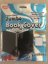 "XXL Black Stretchable Fabric Book Cover~Fits Up To 10"" X 15"", NEW IN PACKAGE!"