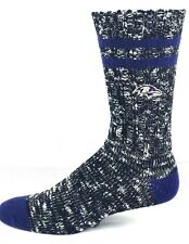 Baltimore Ravens NFL Alpine Crew Socks Black and Purple Heel and Toe Logo Leg