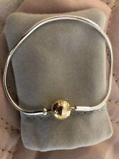 Pandora Silver And Gold Clasp Essence Bracelet