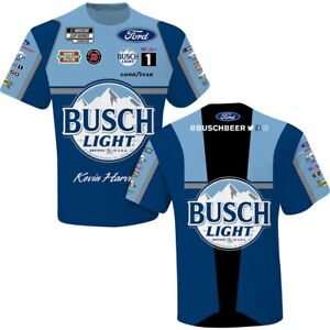 Kevin Harvick 2021 #4 Busch Light Sublimated Shirt New Free Ship Instock