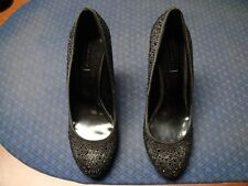 USED BCBG MAX AZRIA PRISH BLACK HIGH HEELS 10