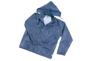 Childrens Junior Tornado Hooded Waterproof Jacket Navy