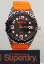 New Mens SUPERDRY Watch Silicone strap Easy to Read RRP £89 !! GENUINE ( SD4