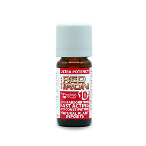 Ultra Potent High Strength Natural Red Iron 10ml - Quickly Restore Iron Levels