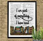 I Am Part of Everything I Have Read Dictionary Art Print Unique Art Teacher Gift