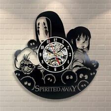 Studio Spirited Away Vintage Art Walls Clock Home Decor Vinyl Record Room