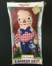 """VINTAGE Knickerbocker The Original Raggedy Andy Stuffed Doll 6.5"""" From Woolworth"""
