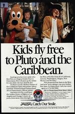1986 PSA Airlines - DISNEYLAND - Pirates Of The Caribbean - Pluto - VINTAGE AD