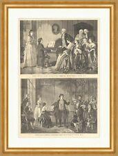 Beethovens erstes Auftreten vor Mozart Komponisten Wien Klavier Holzstich E 4509