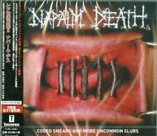 NAPALM DEATH-CODED SMEARS AND MORE UNCOMMON SLURS-JAPAN 2 CD F56