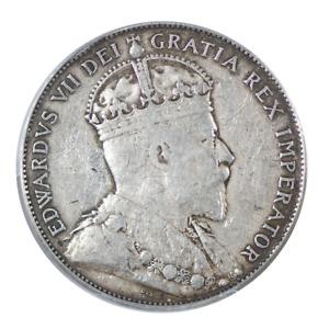 1906 Canadian Silver Half Dollar PCGS VF25