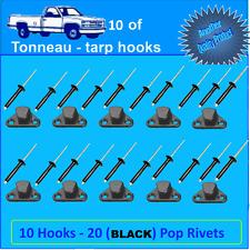 BUNJI SHOCKCORD ROPE LASHING HOOKS BLACK x 10 cargo nets ute tonneau INC POSTAGE