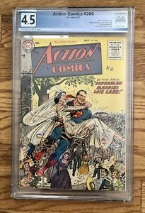 Action Comics #206 PGX 4.5 VG Plus 1955 Superman Marries Lois Lane!! Free Ship