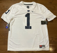 Mens Size Large Nike Penn State Nittany Lions Football Jersey White #1 Nike