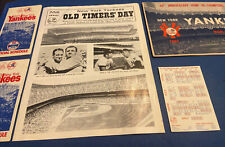 1963-1976 NEW YORK YANKEES LOT W/UNSCORED '63 PROGRAM(O's)~'76 OLD TIMERS~MANTLE
