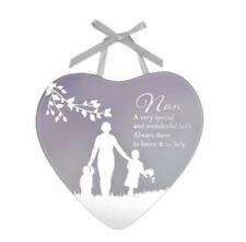 Nan Reflections Of The Heart Glass Mirror Plaque Mothers Day Gift