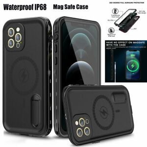 Fr iPhone 12/12 Pro Max RedPepper Waterproof IP68  Magsafe Case Screen Protector