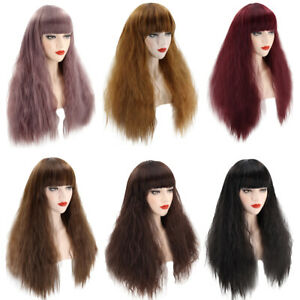 Women Long Curly Wavy Hair Wig Synthetic Fancy Dress Cosplay Pop Party Costume
