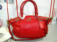 Coach Madison Leather Sophia Satchel 18609 Red Purse Shoulder Bag Tote