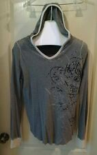 HURLEY HOODIE LONG SLEEVE SHIRT XL BLACK AND WHITE STRIPES GRAPHIC