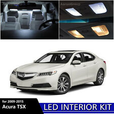 14PCS White Interior LED Light Package Kit for 2009 - 2015 Acura TSX