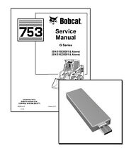 Bobcat 753 G-Series Skid Steer Loader Workshop Service Repair Manual USB Stick