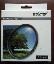 FILTRO WALIMEX UV 62 SLIM MC COLOR REAL PARA OBJETIVO CAMARA REFLEX