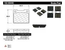 Disc Brake Pad Set-C-TEK Metallic Brake Pads Rear,Front Centric 102.00440