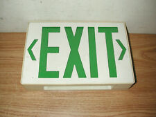 New listing Vintage Ceiling Mountable Metal Box Green Lettered Exit Sign