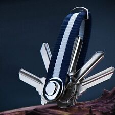 Carabiner Clip Keyring Split Ring Outdoor Belt Loop Key Chain Holder Organizer
