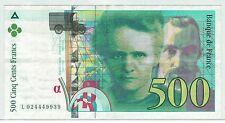 BILLET 500  FRANCS PIERRE ET MARIE CURIE 1994 L 024449939